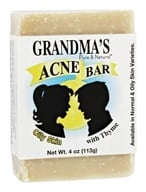 Remwood Products Co. - Grandma's Pure & Natural Acne Bar With Thyme For Oily Skin - 4 oz. (072711641247)