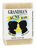 Remwood Products Co. - Grandma's Pure & Natural Acne Bar With Thyme For Oily Skin - 4 oz. - $4.89
