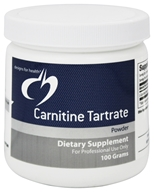 Designs For Health - Carnitine Tartrate Powder - 100 Grams (879452001657)