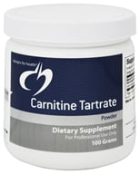 Designs For Health - Carnitine Tartrate Powder - 100 Grams - $49