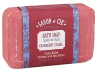 Savon et Cie - Triple Milled Bath Soap Cranberry Cassis - 7 oz. - $4.79