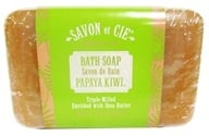 Savon et Cie - Triple Milled Bath Soap Papaya Kiwi - 7 oz. (891356000963)