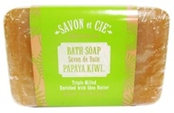 Savon et Cie - Triple Milled Bath Soap Papaya Kiwi - 7 oz. by Savon et Cie
