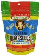 Image of Ziggy Marley Organics - Hemp Rules Roasted Hemp Seeds Sea Salt & Pepper - 6 oz.