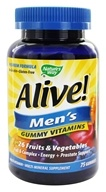 Nature's Way - Alive Men's Gummy Vitamins - 75 Gummies, from category: Vitamins & Minerals