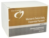 Image of Designs For Health - Women's Twice Daily Essential Packets With Iron - 60 Packet(s)
