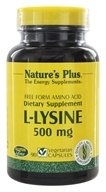 Nature's Plus - L-Lysine 500 mg. - 90 Vegetarian Capsules (097467051096)