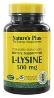 Nature's Plus - L-Lysine 500 mg. - 90 Vegetarian Capsules - $8.25