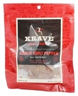 Krave Jerky - Gourmet Beef Jerky Garlic Chili Pepper - 3.25 oz.