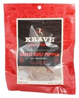 Krave Jerky - Gourmet Beef Jerky Garlic Chili Pepper - 3.25 oz. by Krave Jerky