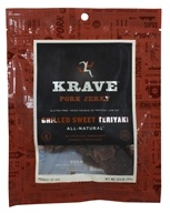 Image of Krave Jerky - Gourmet Pork Jerky Smoky Grilled Teriyaki - 3.25 oz.