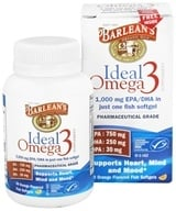 Barlean's - Ideal Omega3 Orange Flavored - 30 Softgels by Barlean's