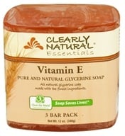 Clearly Natural - Glycerine Soap Bar Vitamin E - 3 Pack (087052723637)