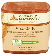 Image of Clearly Natural - Glycerine Soap Bar Vitamin E - 3 Pack