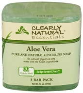 Clearly Natural - Glycerine Soap Bar Aloe Vera - 3 Pack