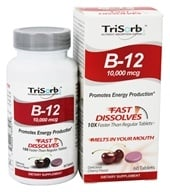 Image of Healthy Natural Systems - TriSorb B-12 Fast Dissolves Delicious Cherry Flavor 10000 mcg. - 60 Tablets