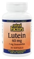 Natural Factors - Lutein 40 mg. - 30 Softgels, from category: Nutritional Supplements