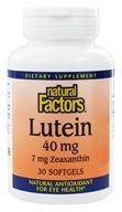Natural Factors - Lutein 40 mg. - 30 Softgels - $11.97