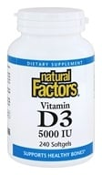 Natural Factors - Vitamin D3 5000 IU - 240 Softgels