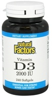 Image of Natural Factors - Vitamin D3 2000 IU - 240 Softgels