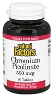 Natural Factors - Chromium Picolinate 500 mcg. - 90 Tablets - $8.37