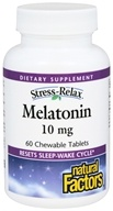 Natural Factors - Stress-Relax Melatonin 10 mg. - 60 Chewable Tablets - $8.37