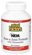 Image of Natural Factors - NEM Knee & Joint Formula with Glucosamine - 60 Tablets