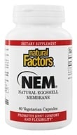 Natural Factors - NEM Natural Eggshell Membrane 500 mg. - 60 Vegetarian Capsules by Natural Factors