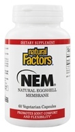 Image of Natural Factors - NEM Natural Eggshell Membrane 500 mg. - 60 Vegetarian Capsules