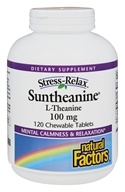 Image of Natural Factors - Stress-Relax Suntheanine L-Theanine - 120 Chewable Tablets