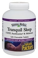 Image of Natural Factors - Stress-Relax Tranquil Sleep - 120 Chewable Tablets