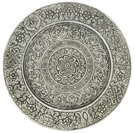Triloka - Aluminum Candle Plate Asta Mangala - 6 in., from category: Aromatherapy