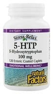 Natural Factors - Stress-Relax 5-HTP 100 mg. - 120 Enteric-Coated Tablets (068958028460)