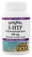 Image of Natural Factors - Stress-Relax 5-HTP 100 mg. - 120 Enteric-Coated Tablets