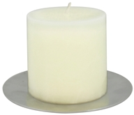 Triloka - Aluminum Candle Plate Zen Round - 5 in., from category: Aromatherapy