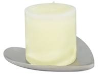 Triloka - Aluminum Candle Plate Heart - 5 in. CLEARANCE PRICED - $5.50