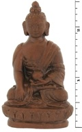 Triloka - Buddha Natural Clay Statue - 2.25 in. (726078700900)