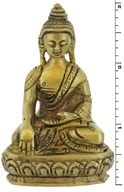 Triloka - Sakyamuni Buddha Statue Recycled Brass - 3 in. CLEARANCE PRICED