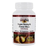 Natural Factors - MacaRich Super Strength Power Maca with Ginseng 500 mg. - 90 Vegetarian Capsules - $13.77