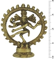 Triloka - Nataraj Dancing Shiva Statue Recycled Brass - 3.75 in. by Triloka