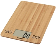 Escali - Arti Glass Digital Food Scale ECO157 Bamboo