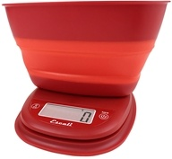 Image of Escali - Pop Collapsible Bowl Digital Scale B115PR Poppy Red