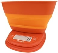 Image of Escali - Pop Collapsible Bowl Digital Scale B115VO Vintage Orange