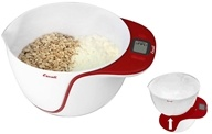 Escali - Taso Mixing Bowl Digital Scale MB115AR Apple Red