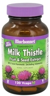 Image of Bluebonnet Nutrition - Standardized Milk Thistle Fruit & Seed Extract 175 mg. - 120 Vegetarian Capsules