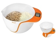 Escali - Taso Mixing Bowl Digital Scale MB115O Orange (852520003258)