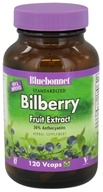 Bluebonnet Nutrition - Standardized Bilberry Fruit Extract 80 mg. - 120 Vegetarian Capsules, from category: Herbs