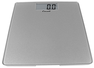 Escali - Precision Body Weight Glass Platform Square Digital Bathroom Scale B200S Silver