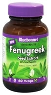 Bluebonnet Nutrition - Standardized Fenugreek Seed Extract 600 mg. - 60 Vegetarian Capsules (743715013414)