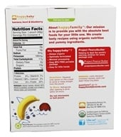 HappyBaby - Organic Baby Food Stage 2 Meals Ages 6+ Months Banana, Beet & Blueberry - 4 x 3.5 oz. Pouches (853826003546)